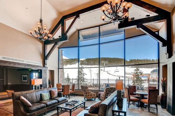 Crystal Peak Lodge luxury lobby interior