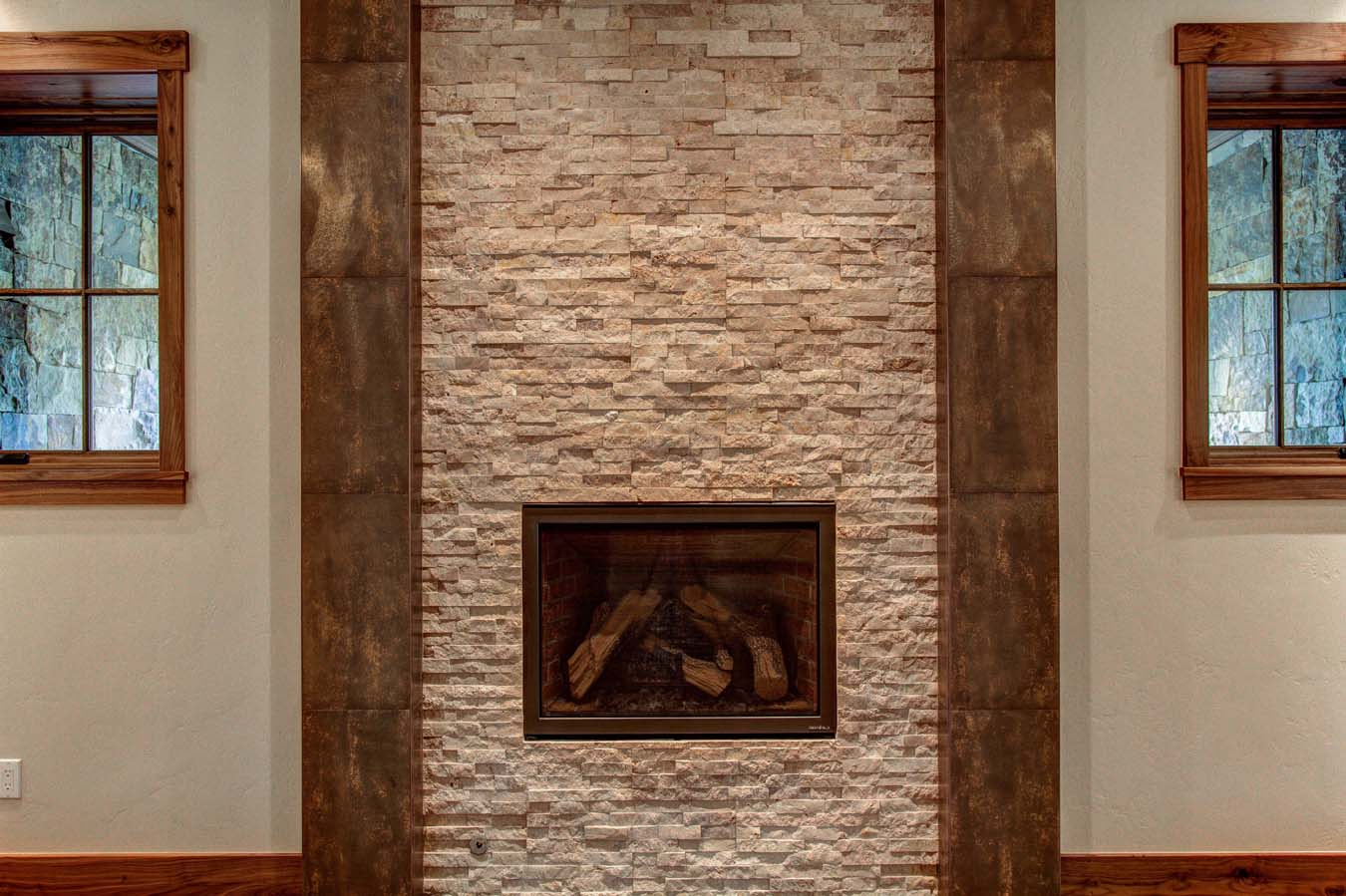 Dercum Dash Stone Fireplace