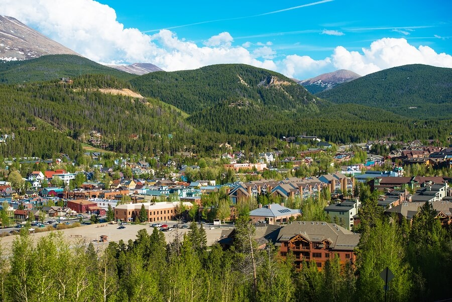 Breckenridge, Colorado aerial view