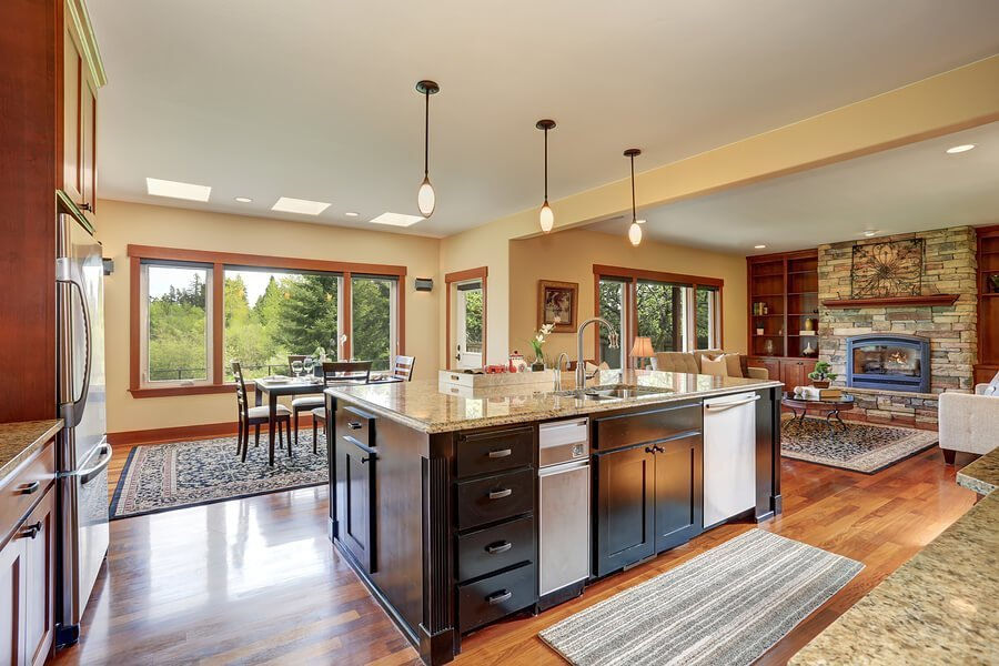Cozy kitchen in Sawmill Creek style home