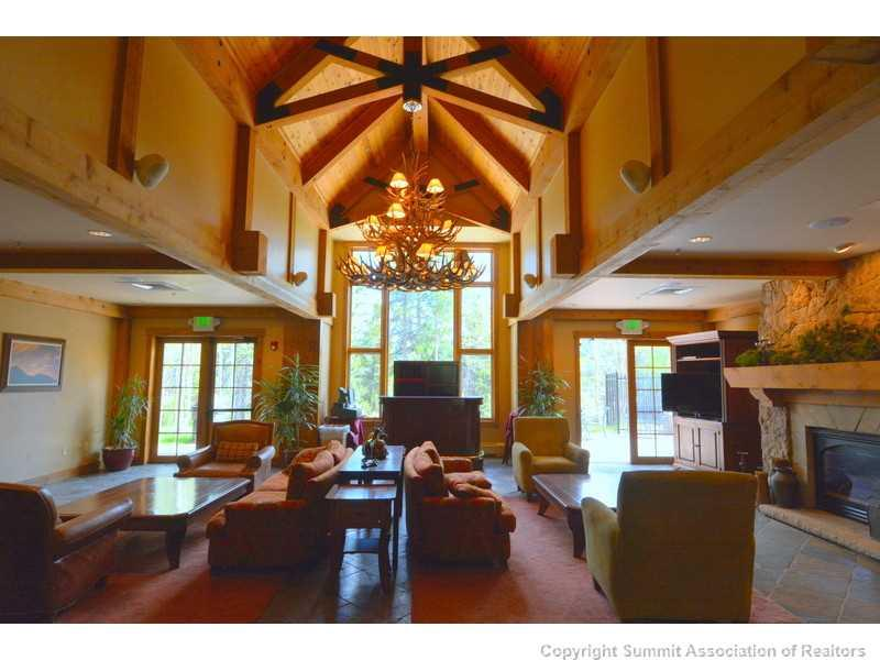 Interior view of Mountain Thunder Lodge real estate with vaulted ceilings