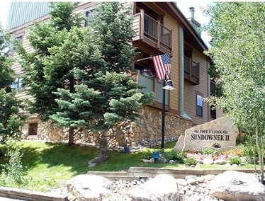Sundowner Condos Entrance Breckenridge